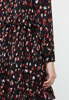 Vero Moda - Abby short dress - black & burgundy