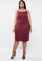 Superbalist - Slip dress - red & black
