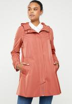 MANGO - Water repellent parka - coral