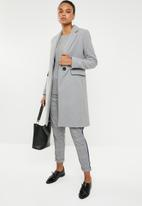 MANGO - Structured wool mix coat - grey