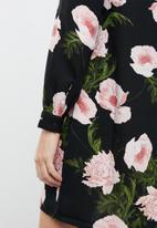 Vero Moda - Holly print long sleeve short dress - multi