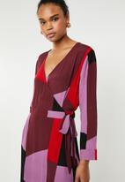 Vero Moda - Molly wrap dress - multi