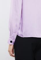 Vero Moda - Mbaya long sleeve midi top - purple