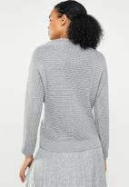 STYLE REPUBLIC - Chunky wrap jersey - grey