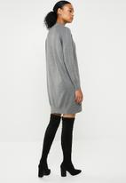 ONLY - Laura highneck knit dress - grey