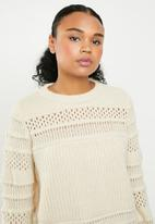 ONLY - Sammi long sleeve pullover top - cream