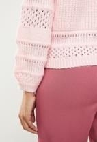 ONLY - Sammi long sleeve pullover top  - pink