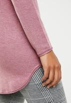 ONLY - Mila longline pullover knit - pink