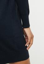 ONLY - Laura highneck knit dress - navy