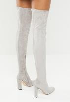 Public Desire - Over the knee boot - light grey