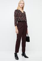 Vero Moda - Abber zigga top - black & red