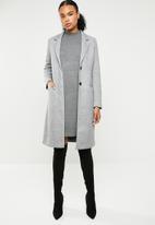 ONLY - Lisa long coat - light grey melange