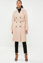 ONLY - Emilia long trench coat - pink