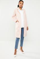 ONLY - Lisa long coat - rose smoke melange