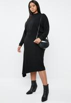 Superbalist - Asymmetrical fit and flare dress - black