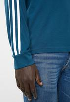 adidas Originals - 3-Stripes crew long sleeve tee - blue & white