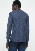 Brave Soul - Mata crew neck sweater - navy