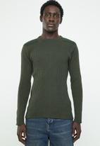 Brave Soul - Marvel crew neck sweater - khaki