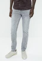 S.P.C.C. - Trench paint splattered jeans - grey
