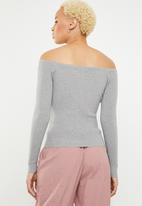 Sissy Boy - Blossom lace up knitwear - grey