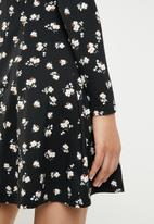 New Look - Betsy button down dress - black
