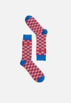 Pringle of Scotland - Kyle geo diamond socks - multi