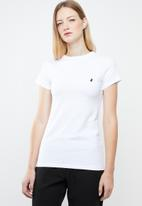 POLO - Allie short sleeve tee - white