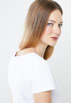 POLO - Kelly short sleeve tee - white