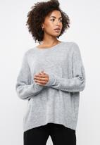 edit - Boxy wide hemline sweater - grey