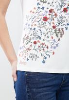 JEEP - Print detail t-shirt - cream