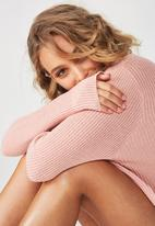 Cotton On - Archy cropped pullover - pink