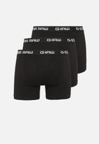 G-Star RAW - 3 Pack classic stretch trunk - black