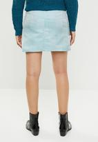 Missguided - Checked dogtooth print mini skirt - blue