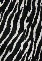 Missguided - Zebra bomber jacket - black & white