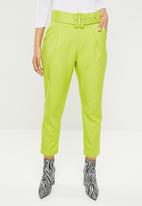 Missguided - Woven self fabric cigarette - lime