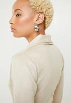 Missguided - Belted blazer dress - beige