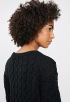 edit - Cable knit tunic - black
