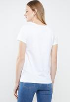 Levi's® - The perfect tee peanuts - white