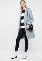 Vero Moda - Sethe boatneck blouse - cream & navy