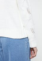 Vero Moda - Mamila o-neck knitwear - cream