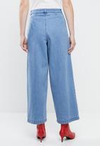 Vero Moda - Camine button wide pants - blue