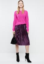 Vero Moda - Kiss calf skirt - navy & pink