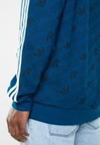 adidas Originals - Monogram hoodie - blue & white
