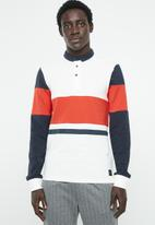 Only & Sons - Jay colour block polo - multi
