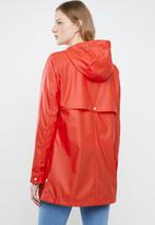 ONLY - Windy raincoat - red & white