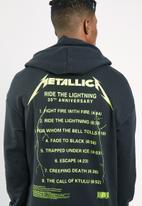 Jack & Jones - Metallica tee sweat hood - black