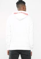 Jack & Jones - Metallica tee sweat hood - white