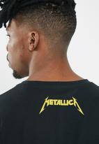 Jack & Jones - Metallica tee long sleeve crew - black