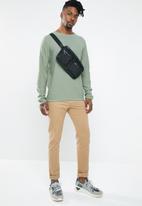 Jack & Jones - Slub knit crew neck sweatshirt - green