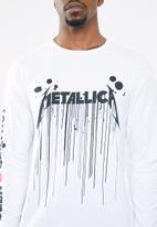 Jack & Jones - Metallica tee long sleeve crew - white